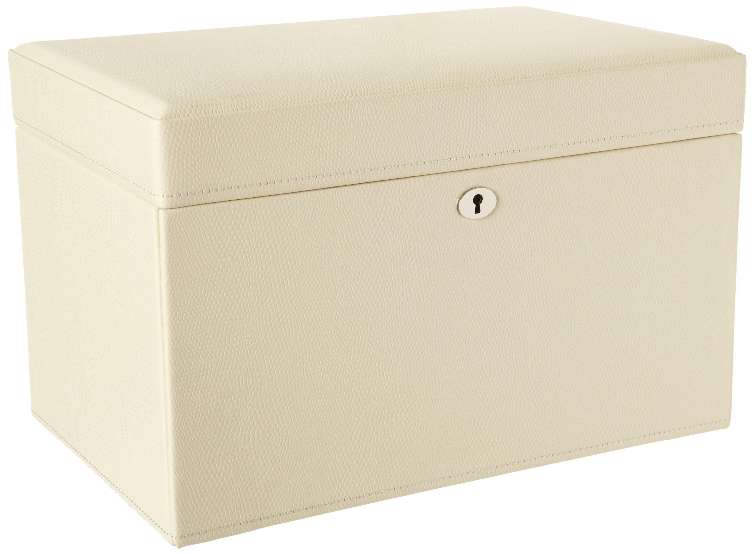 WOLF 315153 London Medium Jewelry Box, Cream