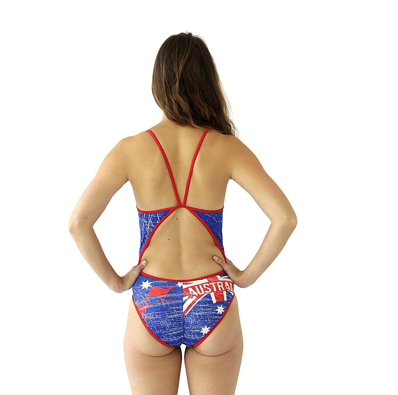 Turbo Australia Vintage - Camiseta con Tirantes Finas Mujer, Mujer, Color Azul/Rojo, tamaño FR : XL (Taille Fabricant : XL): Amazon.es: Deportes y aire ...