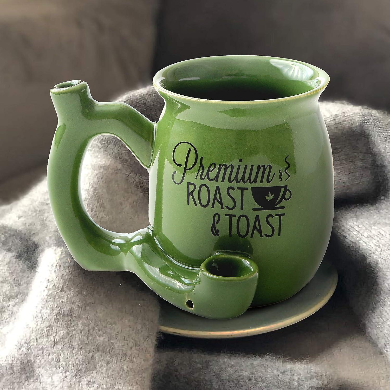 Roast and Toast Green Mug
