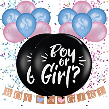 amazon com gender reveal party supplies kit gender reveal balloon