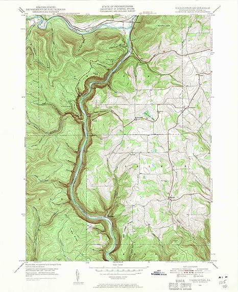 Amazon.com : YellowMaps Tiadaghton PA topo map, 1:24000 ...