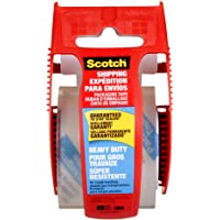 """Scotch Packing Tape Heavy Duty Shipping Tape, 1.88"""" x 20m with Hand-held Dispensers"""