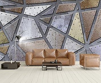 Fototapete 3d Effekt Tapete Abstract Industriellen Metall