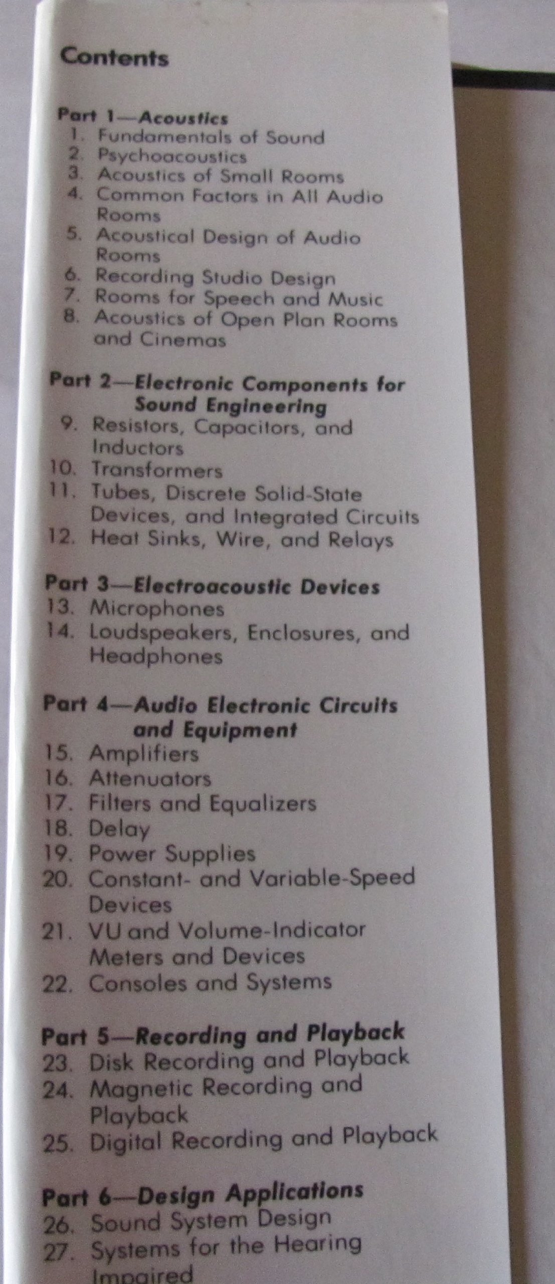 Handbook For Sound Engineers Glen Ballou Fundamentals Inductors 101 Electronic Products 9780672219832 Books