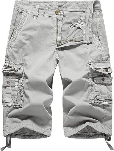 Mens Multi-Pocket Cargo Short Classic Fit Big /& Tall Size Short