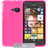 Coque Gel transparent Fuchsia Microsoft Lumia 535 + Stylet + 3 Films OFFERTS