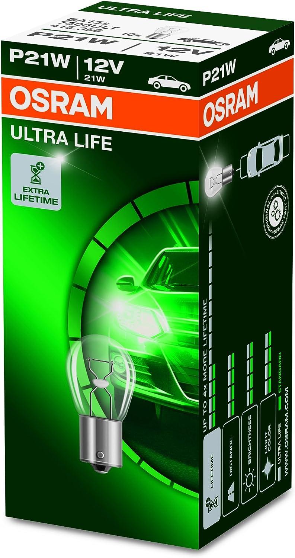 Osram Ultra Life P21w Halogen Signallampe Bremslicht Nebenschlussleuchte 7506ult 12v Pkw Faltschachtel 10 Stück Auto