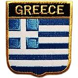 Drapeau de la Grèce Patch'' 6,5 x 7,5 cm '' - Écusson brodé Ecussons Imprimés Ecussons Thermocollants Broderie Sur Vetement Ecusson Biker