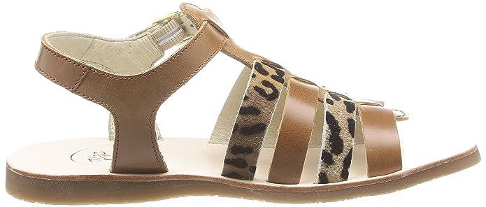 Yep by Jonak Bilbao - Zapatos Para Niñas, Color Marron (Cognac/Girafe), Talla 35