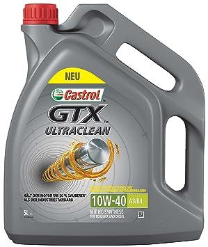 Castrol Aceite 10 W40 GTX A3 B4 Motores Volkswagen 501 01/505 00 Fiat Mercedes 1 x 5 litros