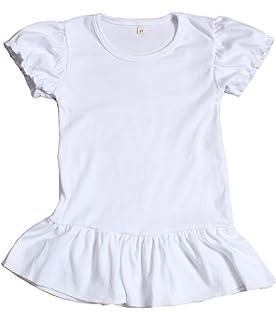 34b927821d0 Amazon.com  Lovetti Girls  Basic Short Puff Sleeve Round Neck T ...
