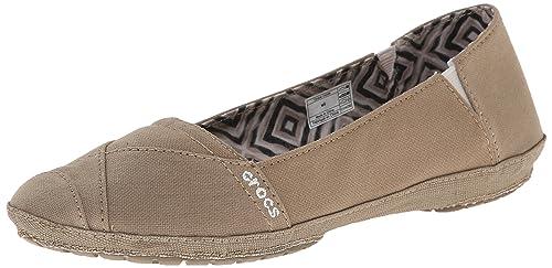 Crocs Angeline - Pantalón Plano para Mujer, Beige (Caqui), 6 B(M) US: Amazon.es: Zapatos y complementos
