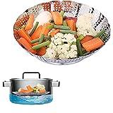 Basket for Vegetables, Etpark Foldable Basket Steamer Insert Multifunctional Folding Steamer Basket in Stainless Steel Steamed Cookware for Cooking Vegetables and Food