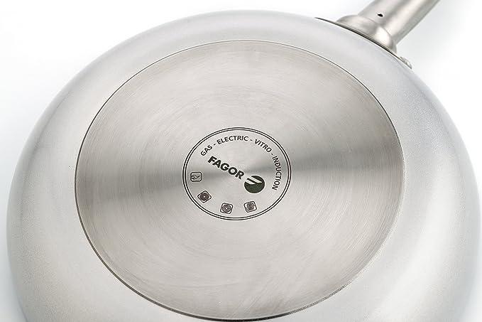 Fagor Bistro Sartén, Aluminio, 28 cm, Todos los fuegos y Horno, Full Induction: Amazon.es: Hogar