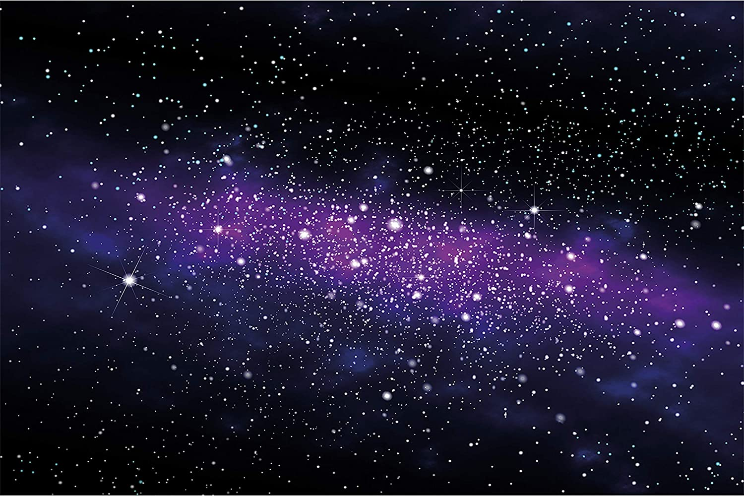 GREAT ART Kid's Room Nursery Mural – Galaxy Stars– Wall Picture Decoration Outer Space Sky Universe Cosmos Starry Sky Milky Way Super Nova Wallposter Photoposter