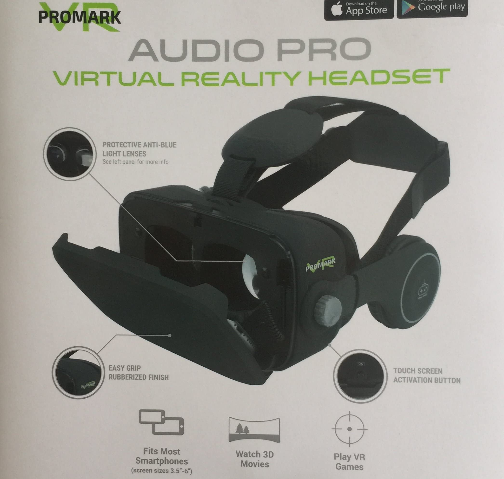 Amazon com: ProMark Virtual Reality Goggles With Built In