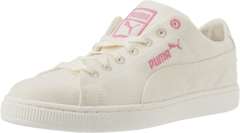 PUMA Basket Fashion Basket pour Homme, Blanc (WhitePink