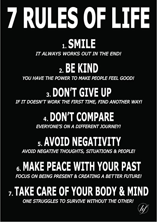 Life Poster Quote Don/'t Worry Positive Picture Wall Art Life Happy All Sizes
