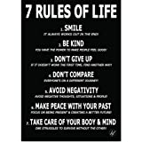 HFL Motivational Poster for Affirmation Rules -11.7 x 16.5 inch Poster for Office Decor, College Dorm, Teachers, Classroom, G