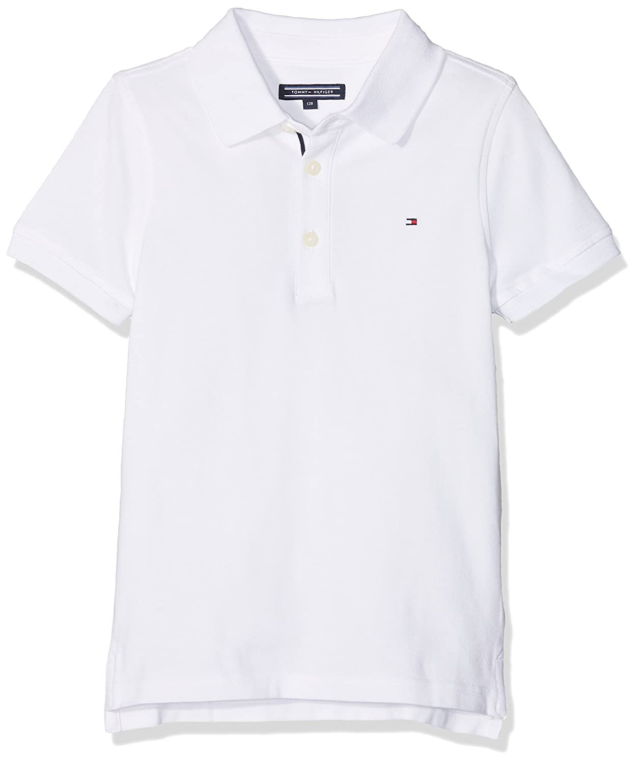 Tommy Hilfiger Boy's AME Hilfiger Slim Fit S/S Polo Shirt: Amazon.co.uk:  Clothing