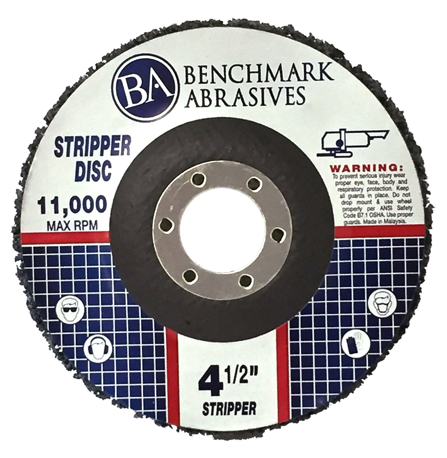 4 1/2'' x 7/8'' Benchmark Abrasives - Paint & Rust Stripping Cup Wheel - 10 Pack
