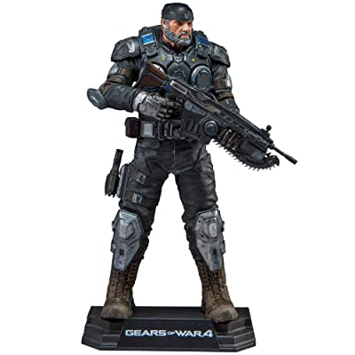 "McFarlane Toys Gears of War 4 Marcus Fenix Collectible Action Figure, 7"": Toys & Games"
