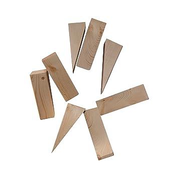 Amazon.com : Wooden Non Slip Door Stop Stopper Wedge 8 Pack Of ...