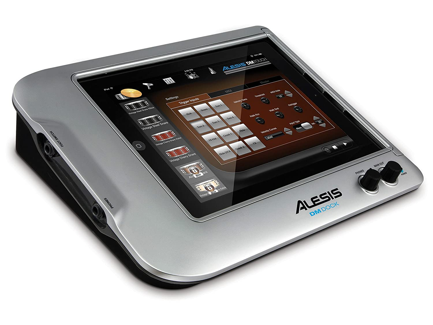 Alesis DM Dock | Drum Interface to Use iPad as Full-Color, Multi-Touch Drum Module (12 Trigger + 1 Hi-Hat Inputs)