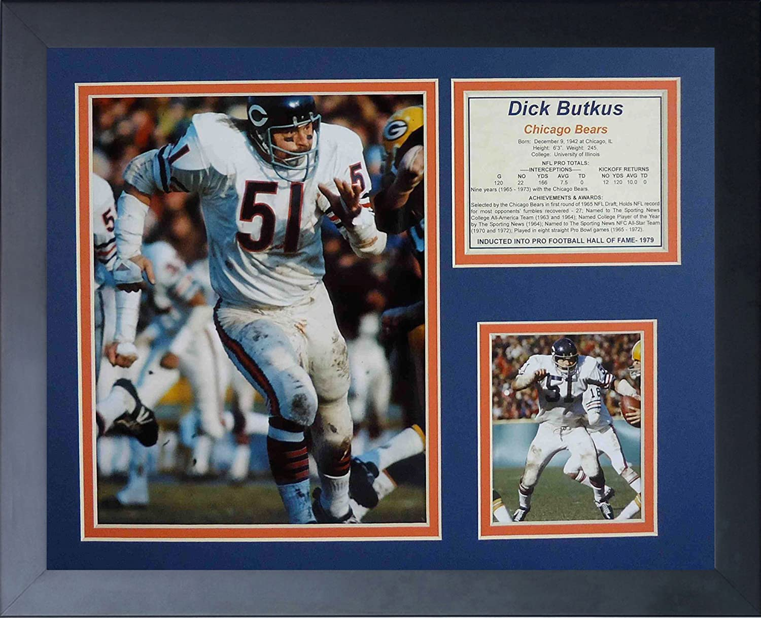 Legends Never Die Dick Butkus Home Framed Photo Collage 11 x 14-Inch
