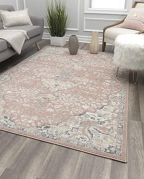 Amazon Com Rugs America Area Rug 5 0 X7 0 Pink Amaranth Furniture Decor