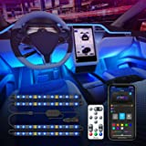 Govee Interior Car Lights with APP Control and Remote Control, Music Sync Car LED Lights, 2 Lines Design, 16 Million Colors,