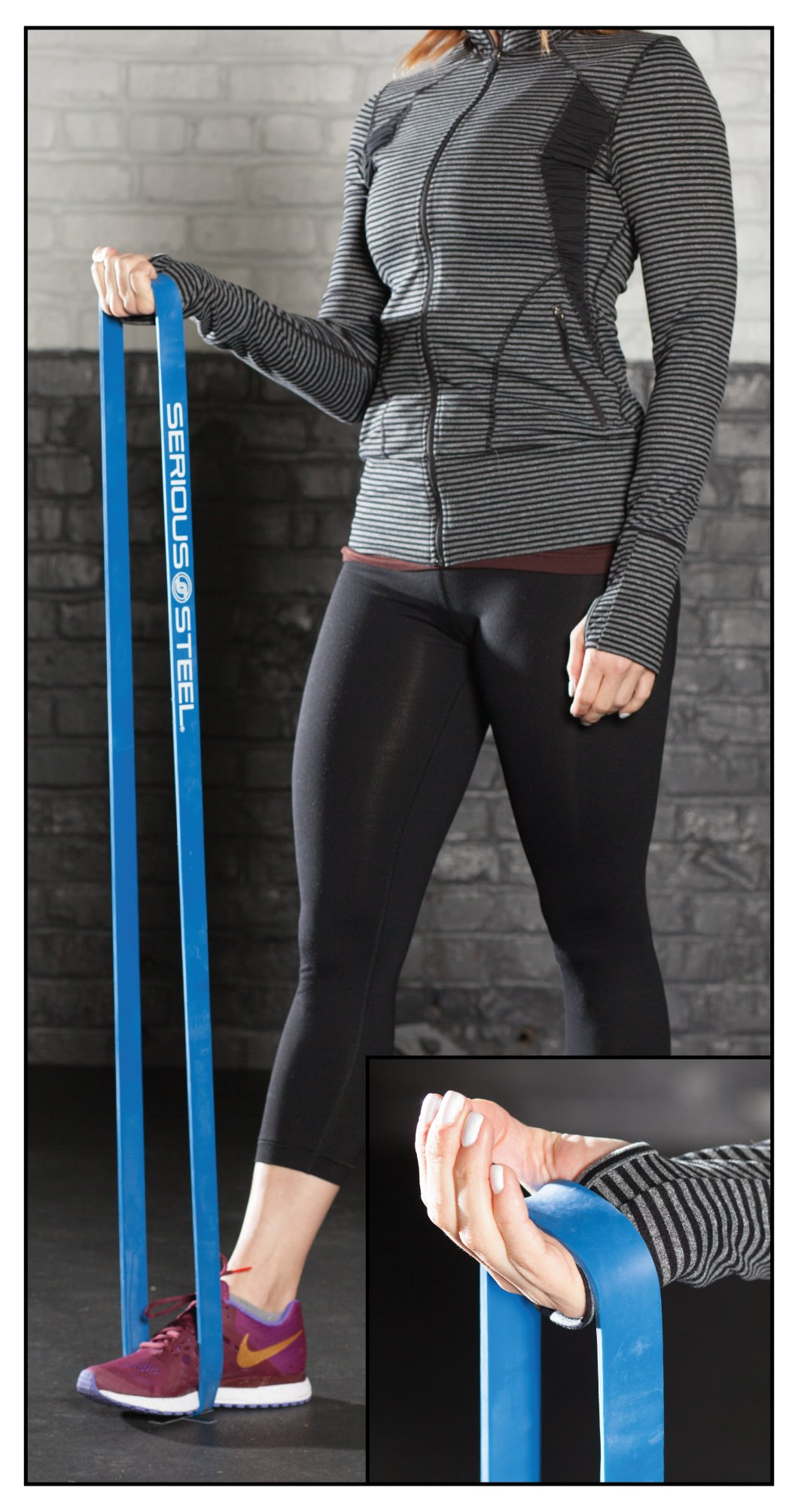 Serious Steel Fitness Beginner Assisted Pull-up &Crossfit Resistance Band Package#2, 3 Band Set (10-80 lbs) Free Pull-up and Band Starter e-Guide by Serious Steel Fitness (Image #7)