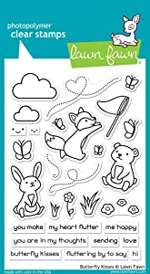 """Lawn Fawn Butterfly Kisses 4""""x6"""" Clear Stamp Set (LF1882)"""
