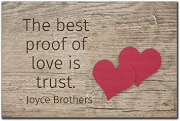Amazoncom Mundus Souvenirs The Best Proof Of Love Is Trust Quote
