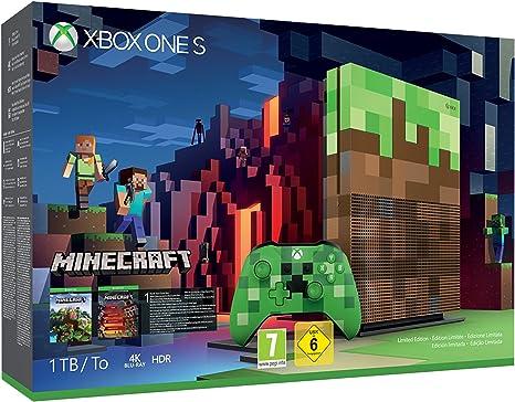Microsoft Xbox One S - Consola 1 TB Minecraft - Edición Limitada ...
