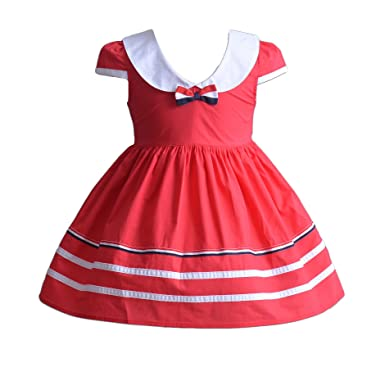 e8fa8f6d4 Cinda Baby Girls Summer Party Dress in Blue Red  Amazon.co.uk  Clothing