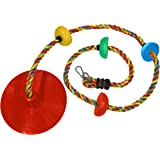 Jungle Gym Kingdom Rope Swing - Tree Climbing Ropes & Disc Swings for Kids w/ Red Seat for Swinging – Outdoor Playground Set