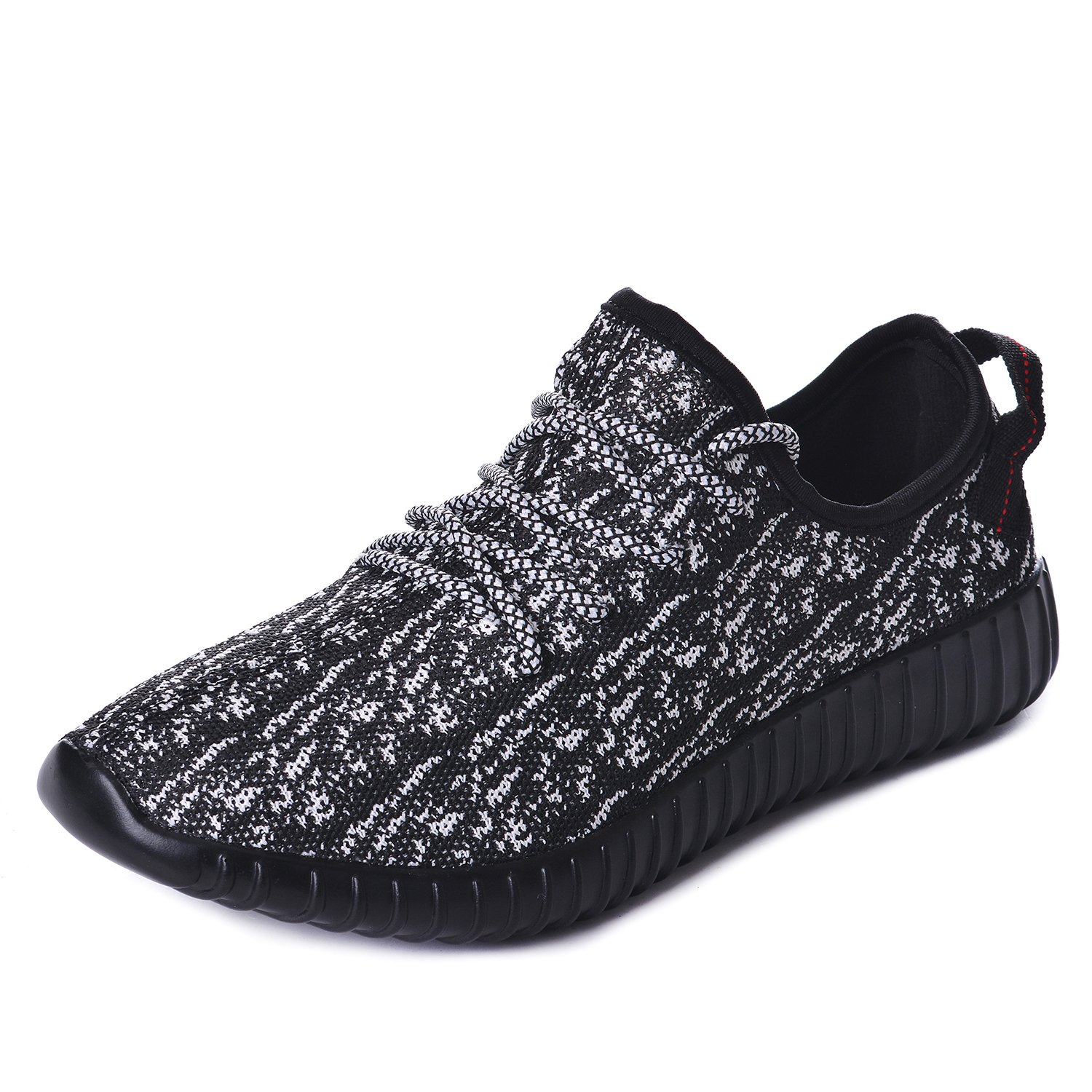 UOREHM Mens Running Shoes Lightweight Sports Womens Fashion Sneakers Breathable Casual Walking Athletic Blackwhite 44