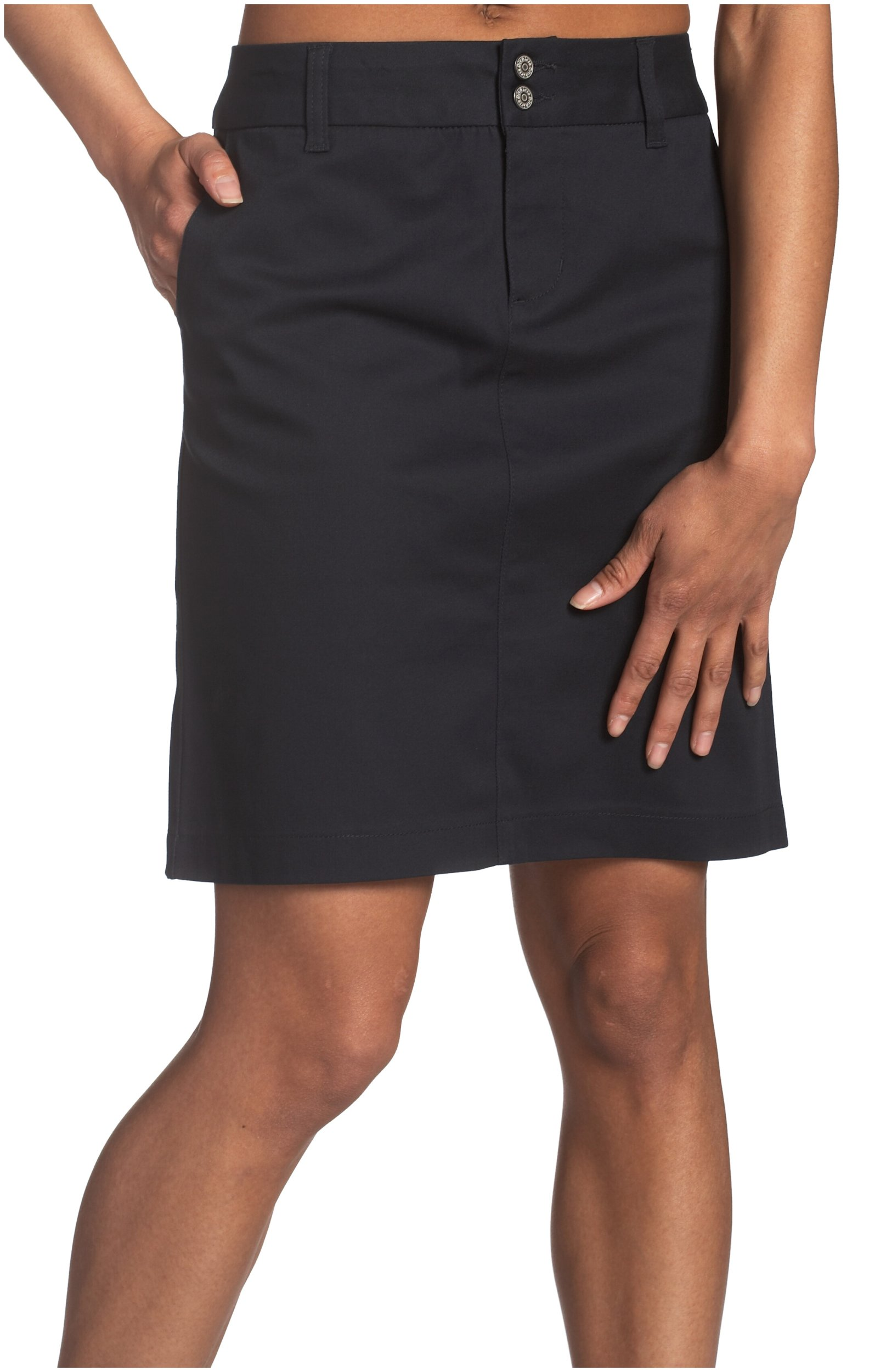 Dickies Girl Juniors 18'' 4 Pocket Double Button Skirt,Navy,9