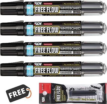 PracticOffice SDI Freeflow - Pack 4 Rotuladores Pizarra Blanca de ...