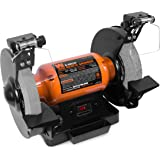 """WEN 4282 4.8-Amp 8"""" Bench Grinder with LED Work Lights and Quenching Tray"""