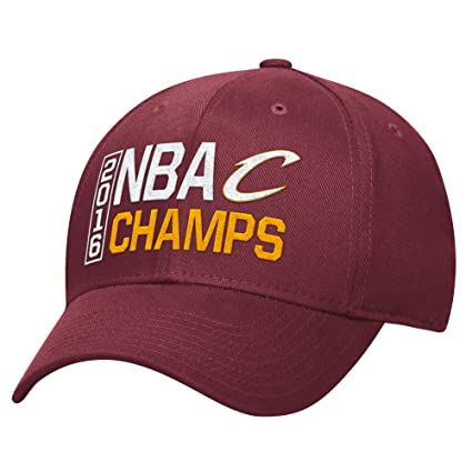 3b231936966977 NBA Cleveland Cavaliers 2016 Champions Structured Flex Fit Cap,  Small/Medium, Maroon