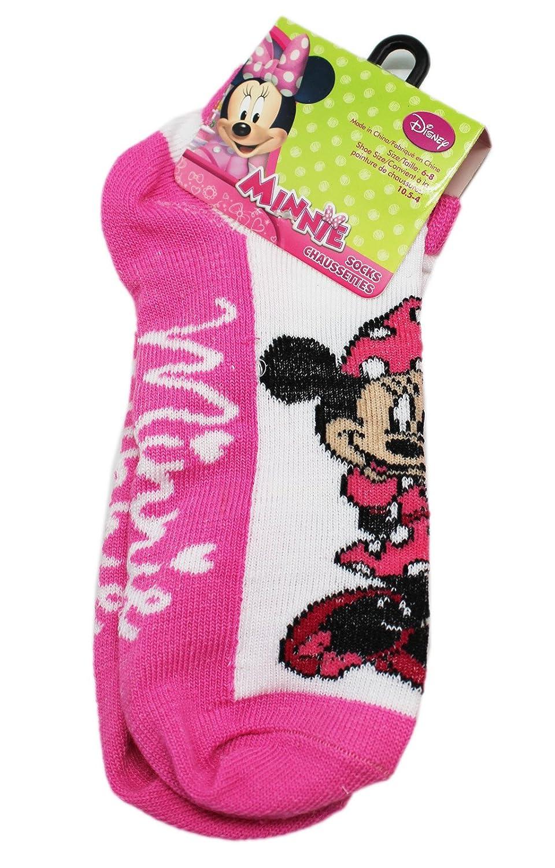 Disneys Minnie Mouse Light Pink//White Cursive Name Socks 1 Pair, Size 6-8