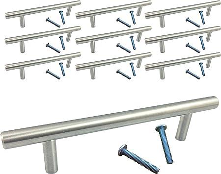 Swiss Kelly Kitchen T Bar Pull Cabinet Pull Drawer Handle Satin Nickel Bar Pulls