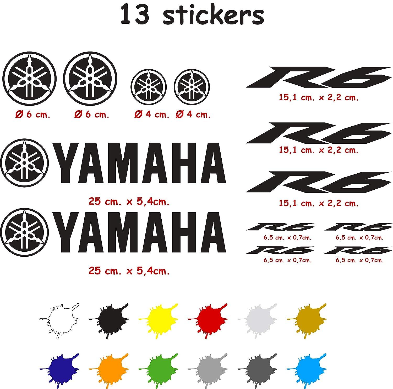 Kit de Pegatinas Troqueladas Compatible Yamaha r6 Vinilo 5 a 7 a/ños Naranja