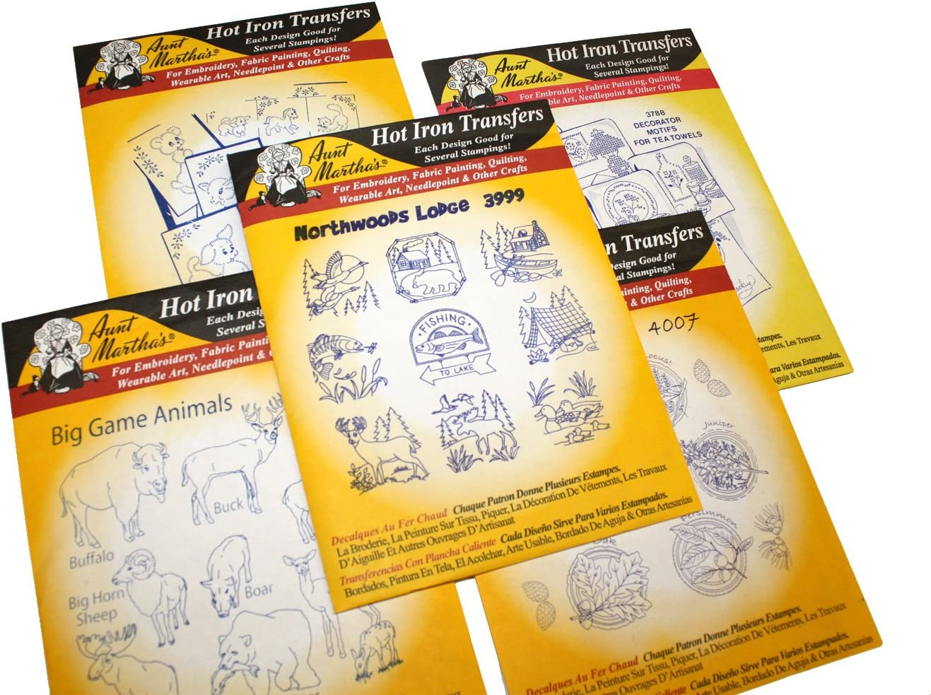 Iron On Transfers for Children/'s Quilts Crafts Tea Towels Aunt Martha/'s Choice