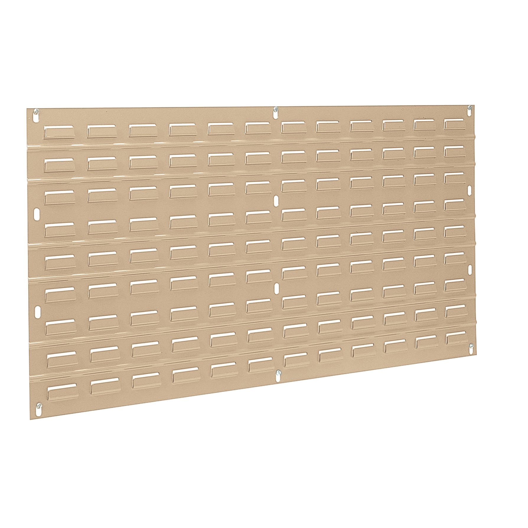 Akro-Mils 30636 36-Inch W x 19-Inch H Powder Coated Steel Louvered Steel Panel for mounting AkroBins, Beige, Case of 4