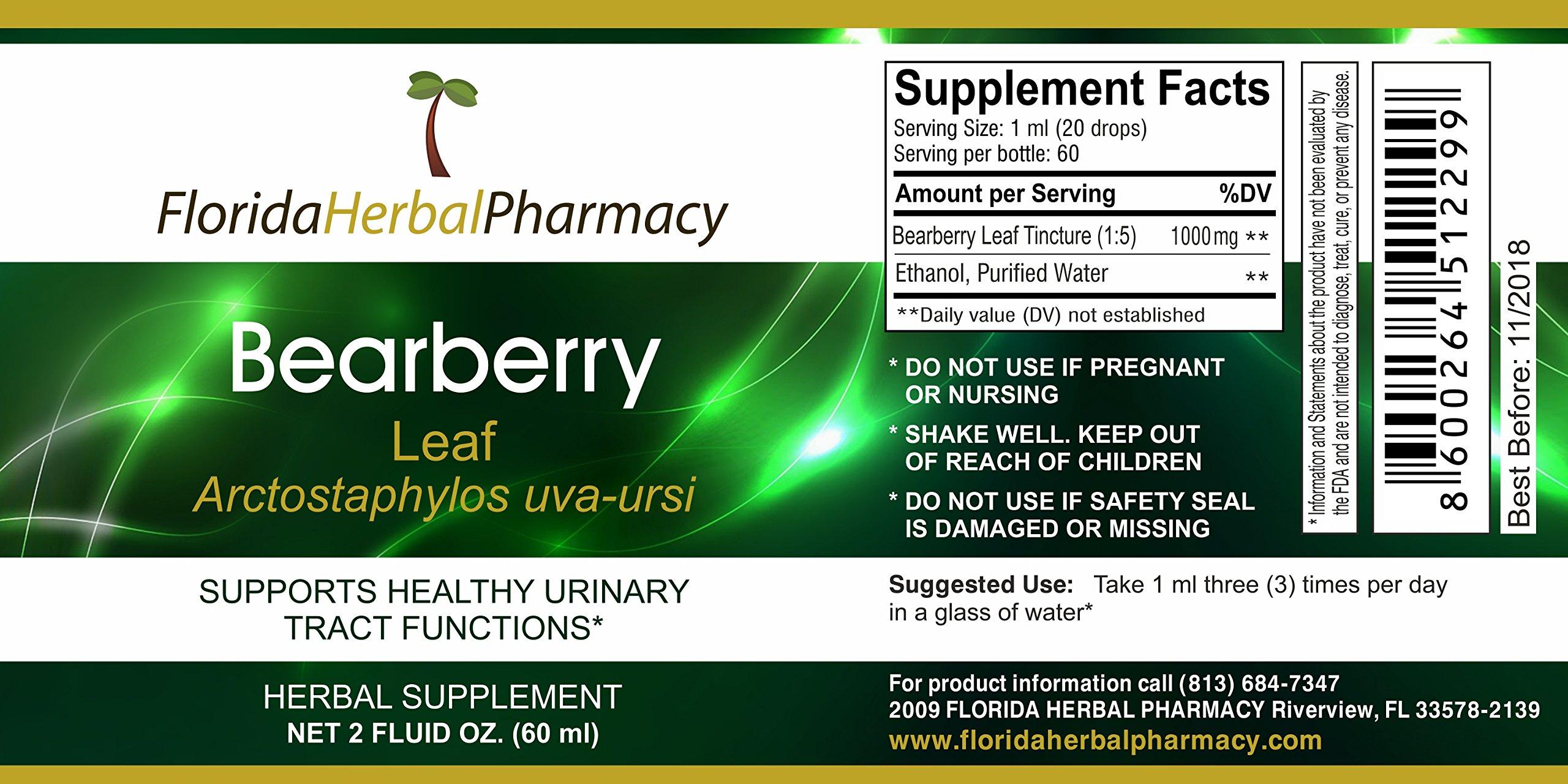 Florida Herbal Pharmacy, Uva Ursi (Bearberry) Tincture / Extract 2 oz. by Florida Herbal Pharmacy