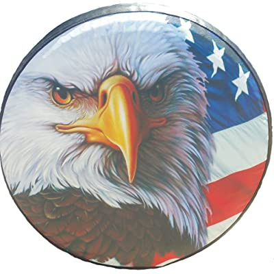 Spare Tire Cover American Flag Eagle 29-30 inches: Garden & Outdoor