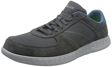 Skechers Performance Men's On The Go Glide - Virtue Charcoal/Blue Shoe